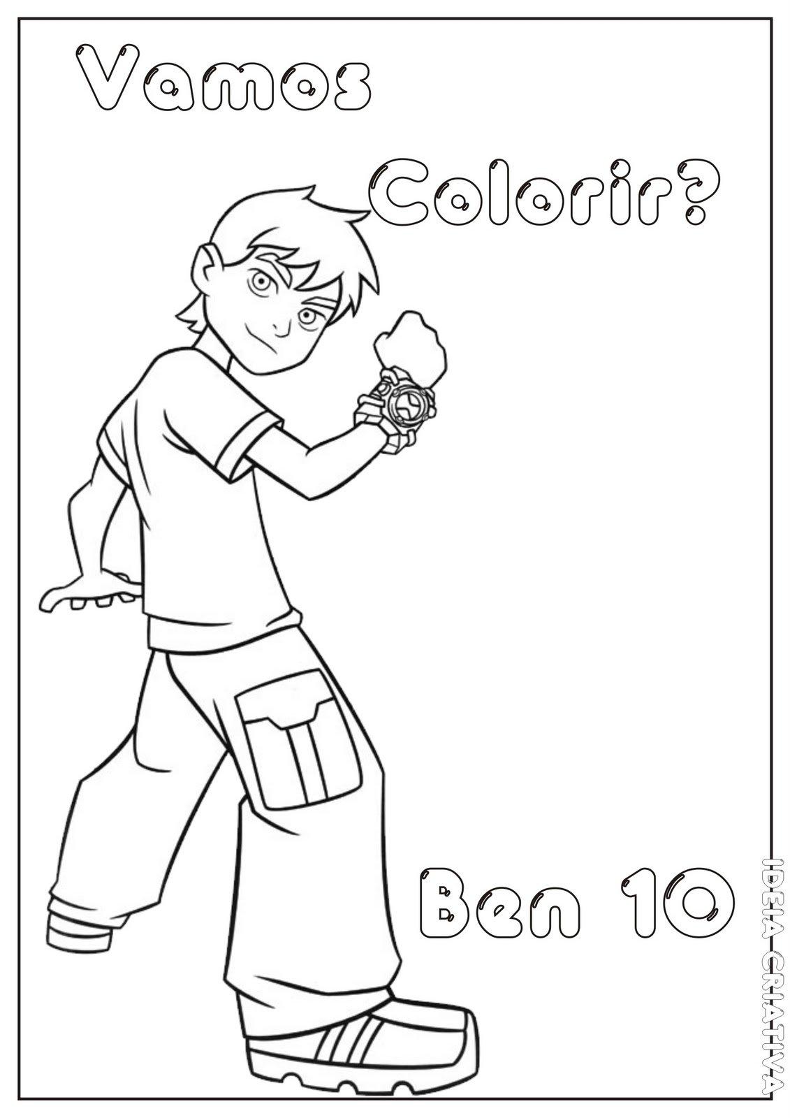 Desenho Do Ben 10, Imprima E Pinte