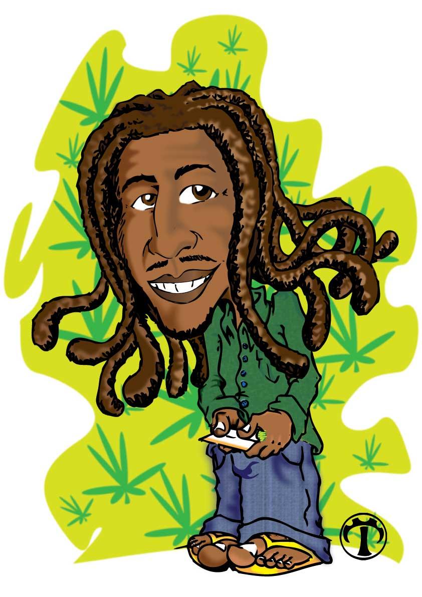 Desenho Do Bob Marley