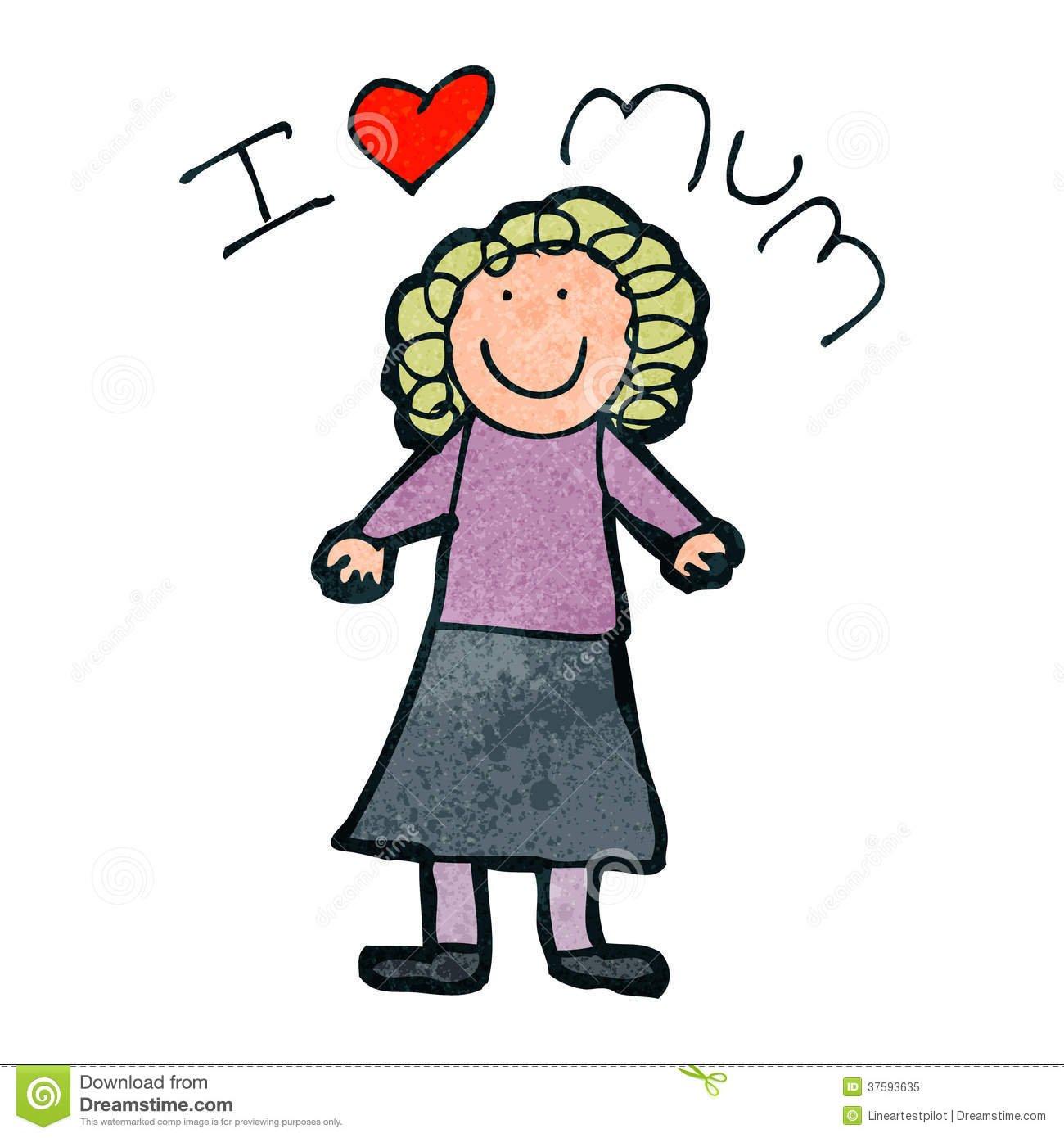 Desenho Do Dia De Mãe Da Criança Foto De Stock Royalty Free