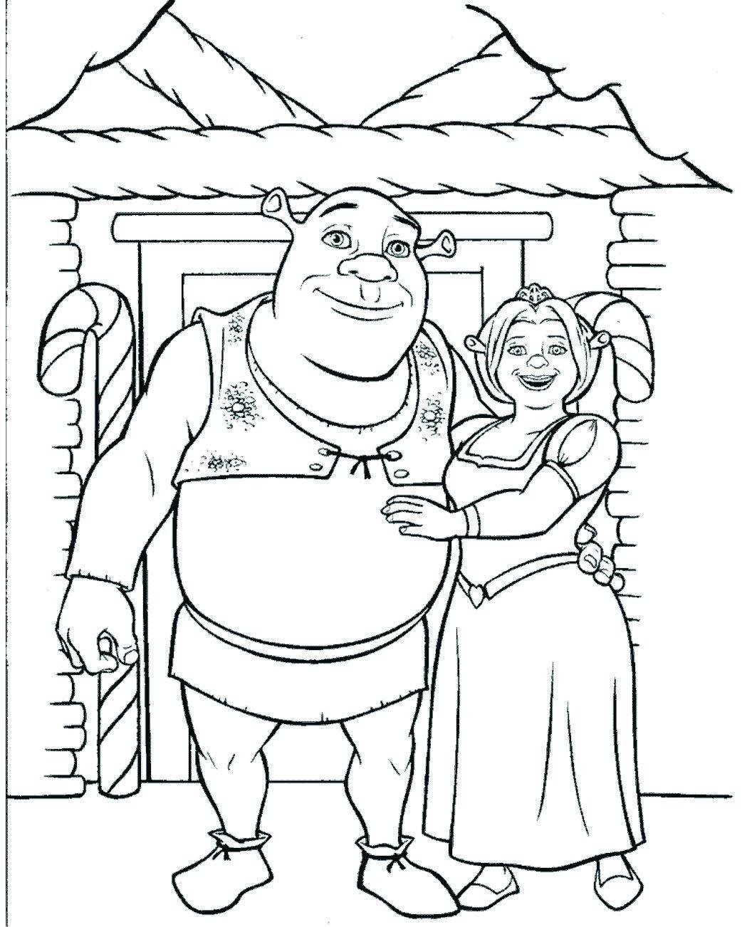 Desenho Do Shrek Para Colorir