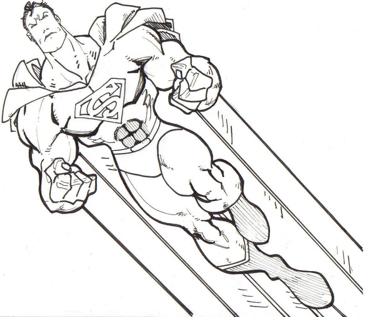 Desenho Do Super Homem Para Colorir [superman] Pra Colorir E