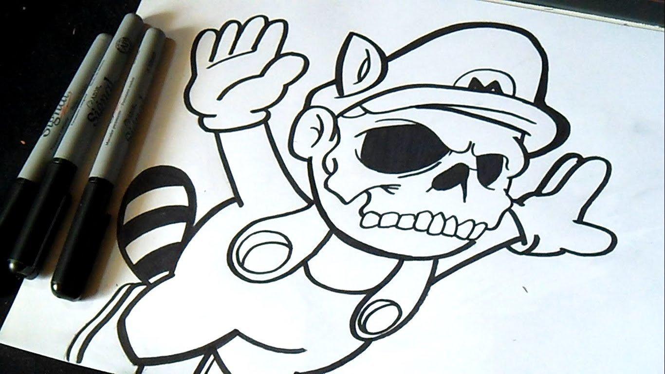 Desenho Mario Bros Grafite
