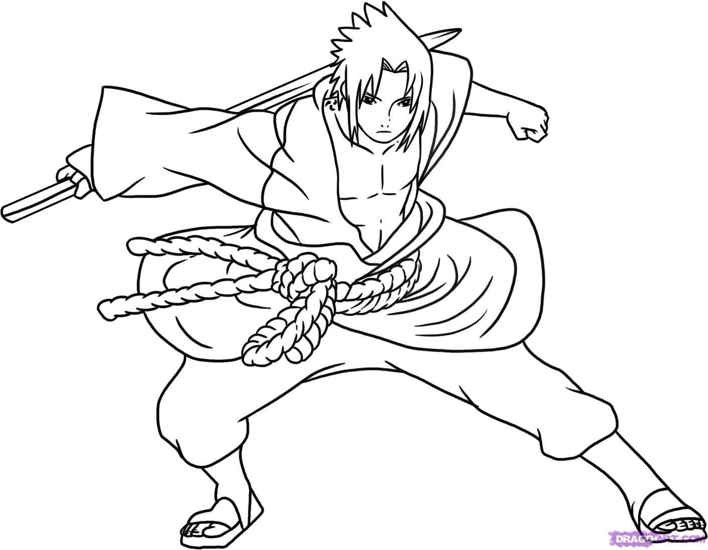 Desenho Para Colorir  Desenho Para Colorir Do Naruto