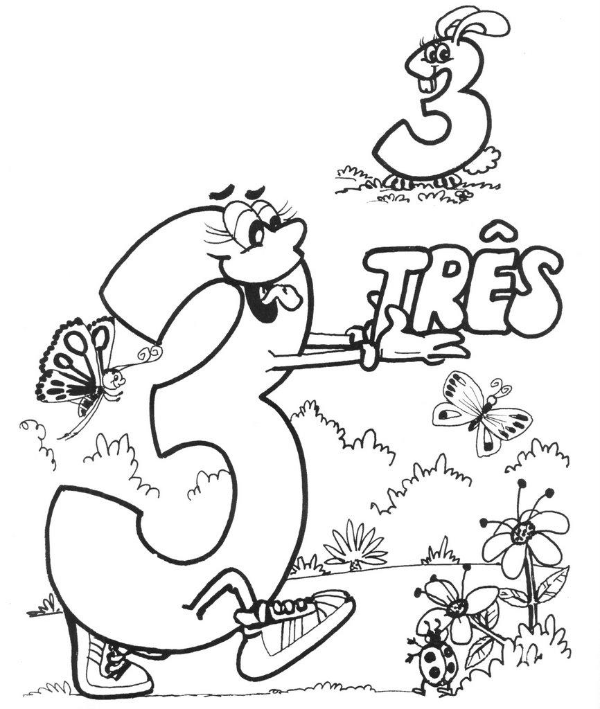 Desenho Para Colorir Números De 0 A 9  Lindos Para Imprimir E Pintar