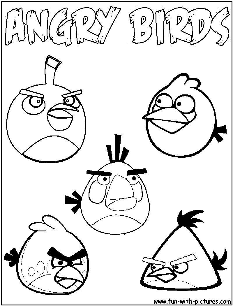 Desenhos Angry Birds Para Imprimir E Colorir