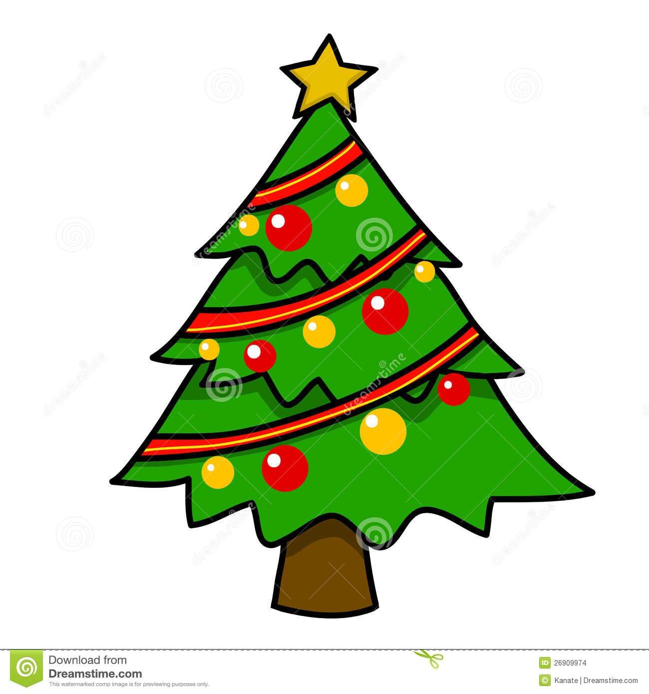 Desenhos Animados Da árvore De Natal  Imagens De Stock