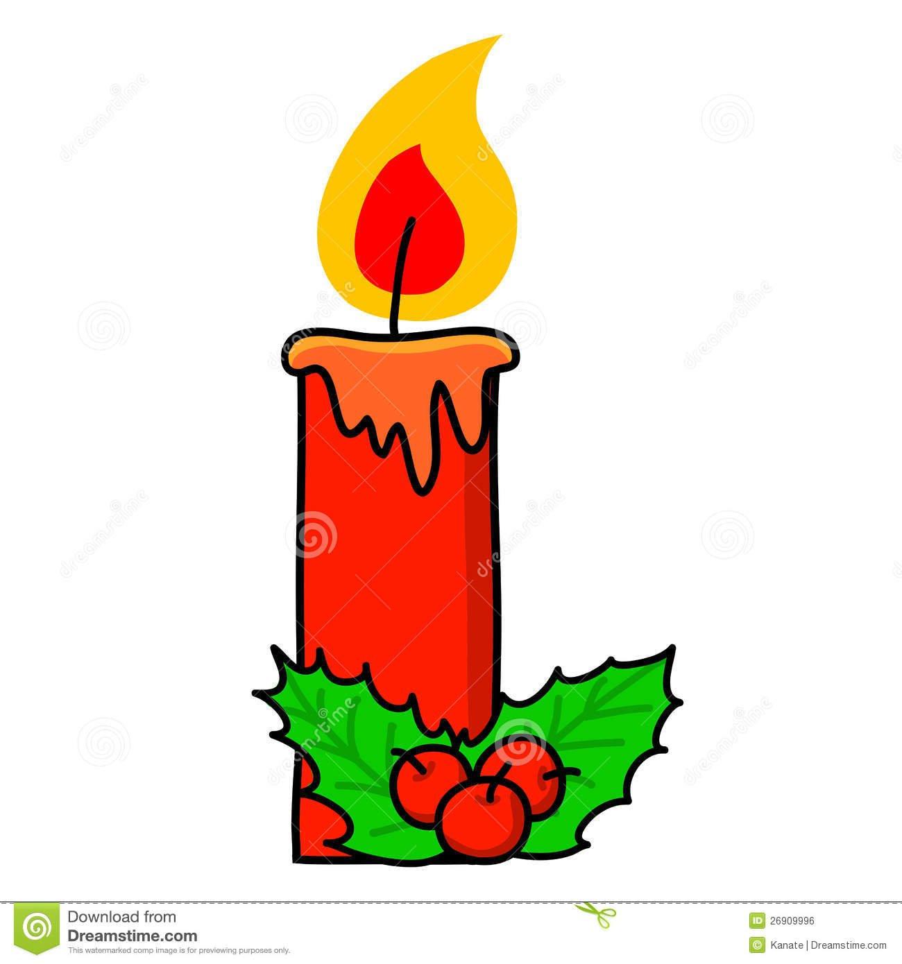 Desenhos Animados Da Vela Do Natal  Imagem De Stock Royalty Free