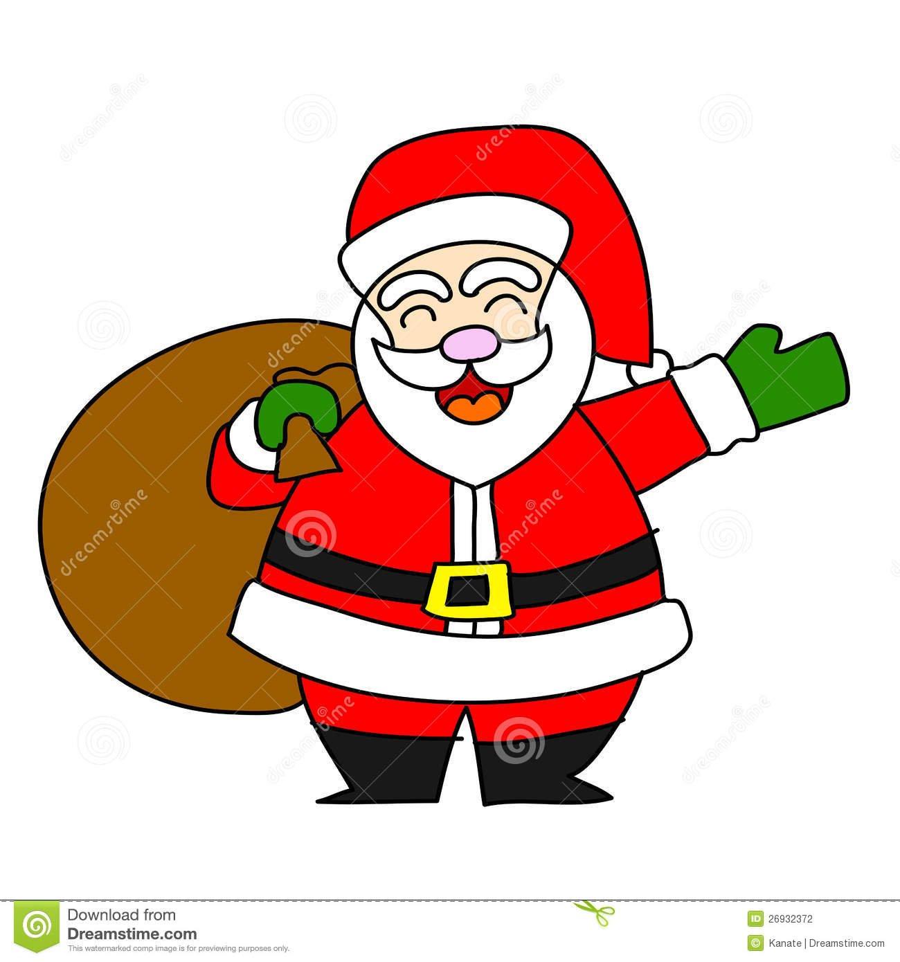 Desenhos Animados Papai Noel Fotografia De Stock