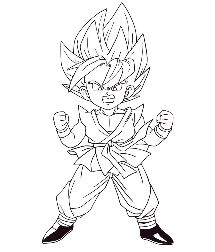 desenhos colorir dragon ball z free coloring pages