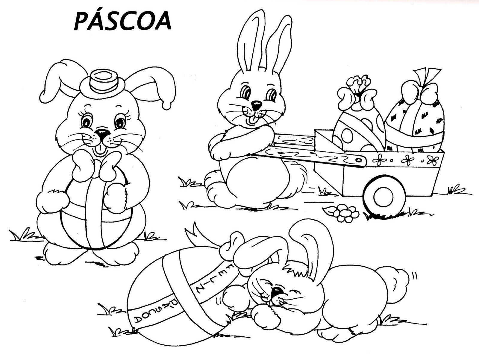 Desenhos Pascoa Para Colorir