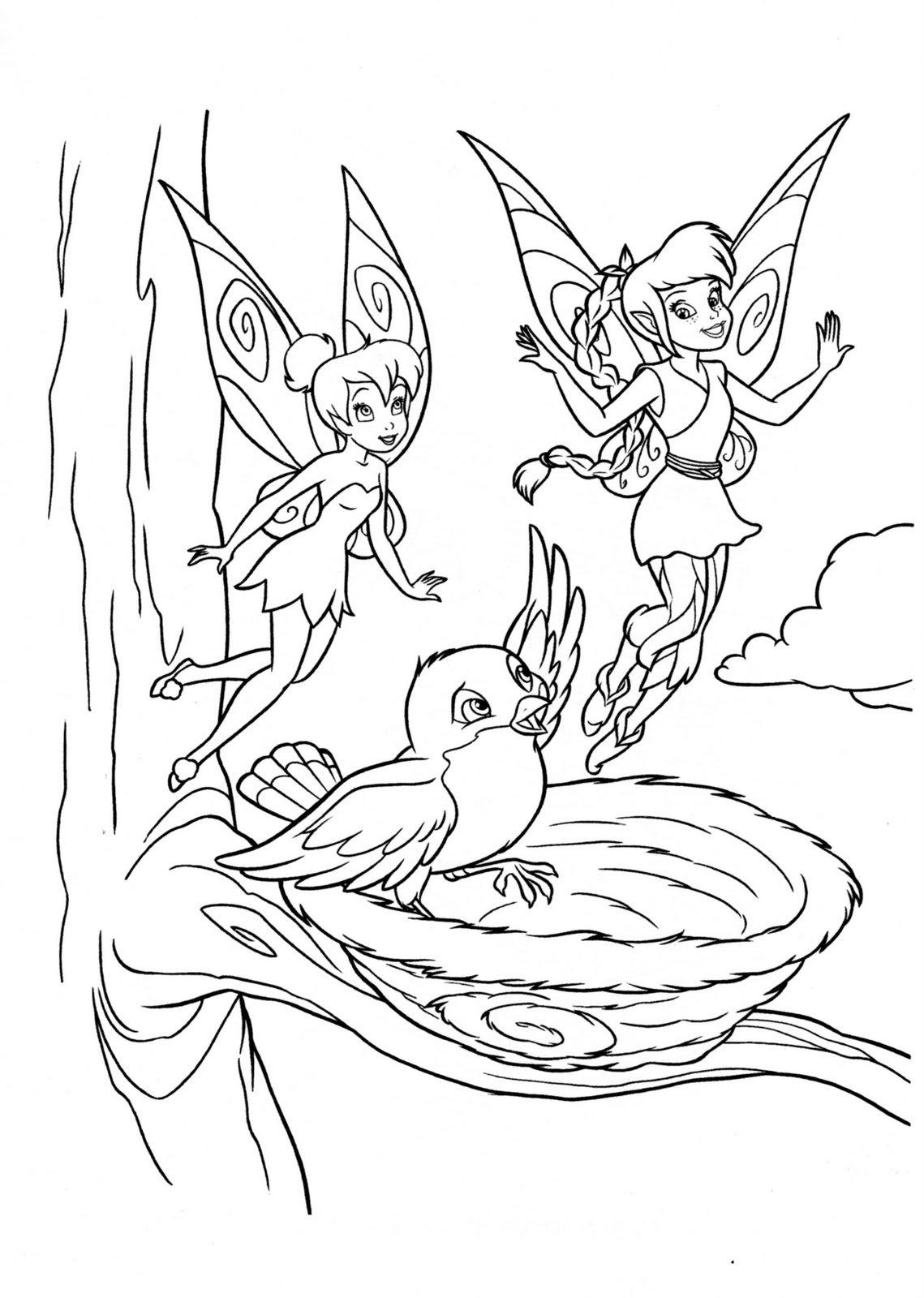 Desenhos Da Tinkerbell Para Colorir  Sininho E Fadas Do Filme, Pintar