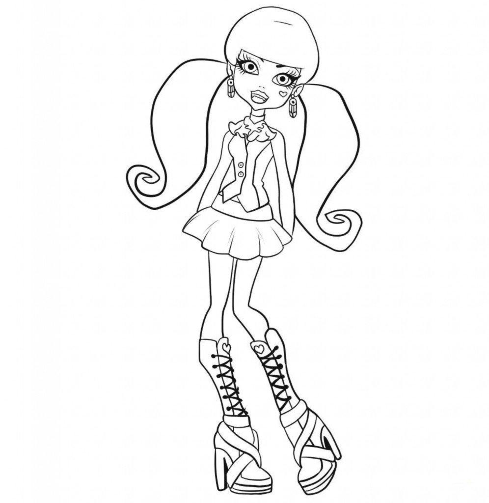 Desenhos Das Monster High Para Colorir