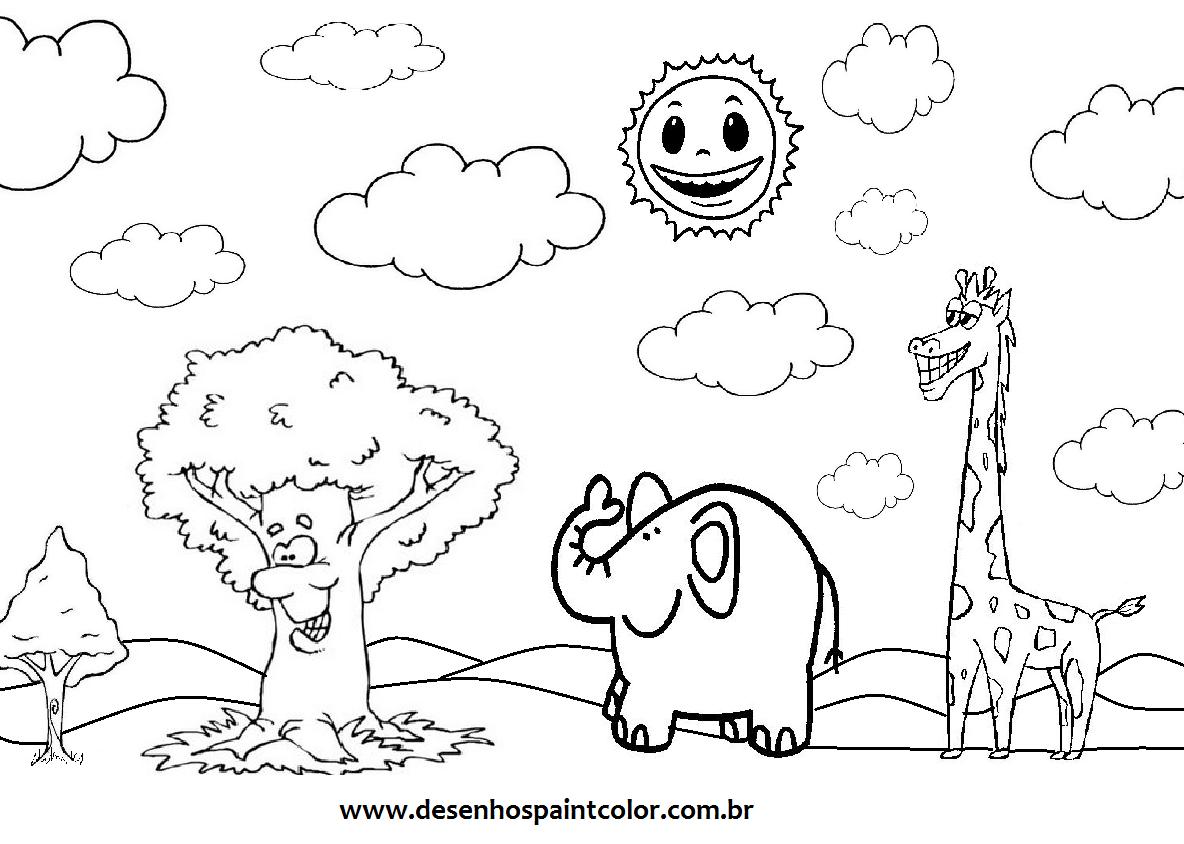 Desenhos De Animais Para Colorir E Imprimir Sketch Coloring Page