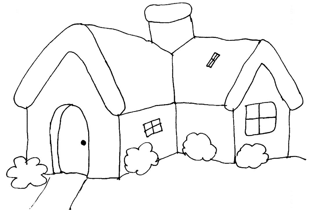 Imagenes De Dibujos De Una Casas Holidays Oo Casas Para Pintar  # Muebles Dibujos Para Colorear