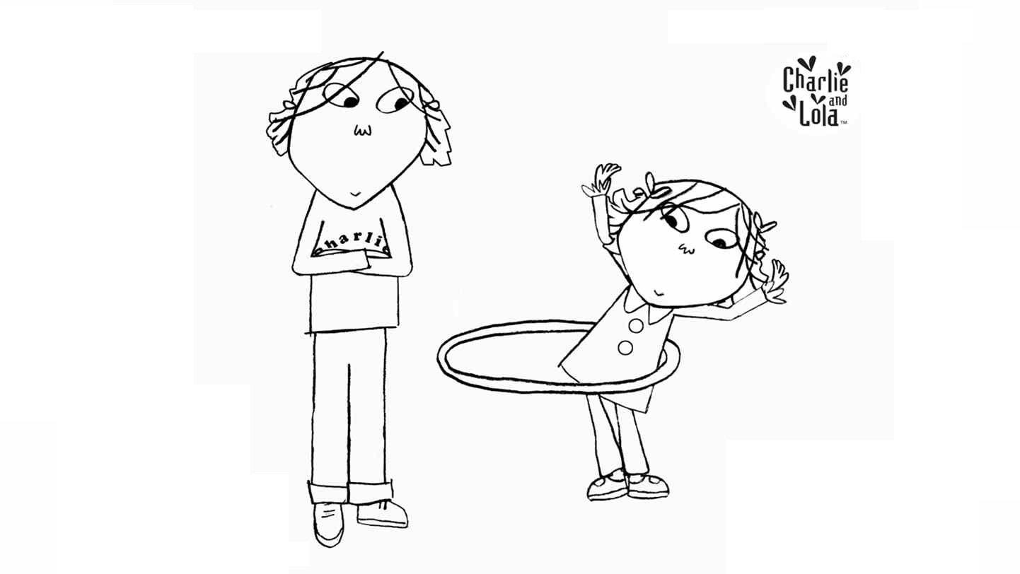 Desenhos De Charlie E Lola Para Pintar, Colorir, Imprimir! Moldes