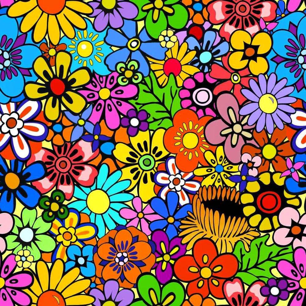 Flores Coloridas Para Imprimir