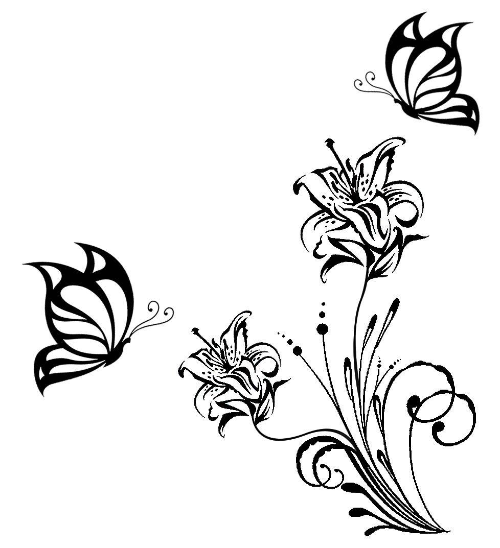 Desenhos De Flores E Borboletas
