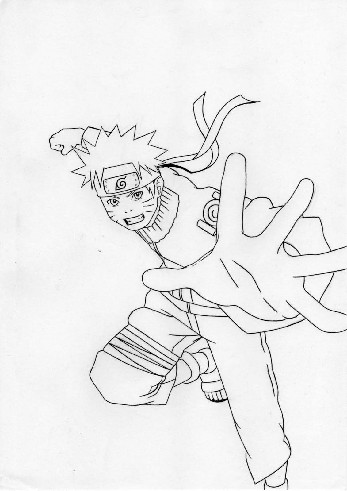 Desenhos De Mangás Para Colorir Sketch Coloring Page
