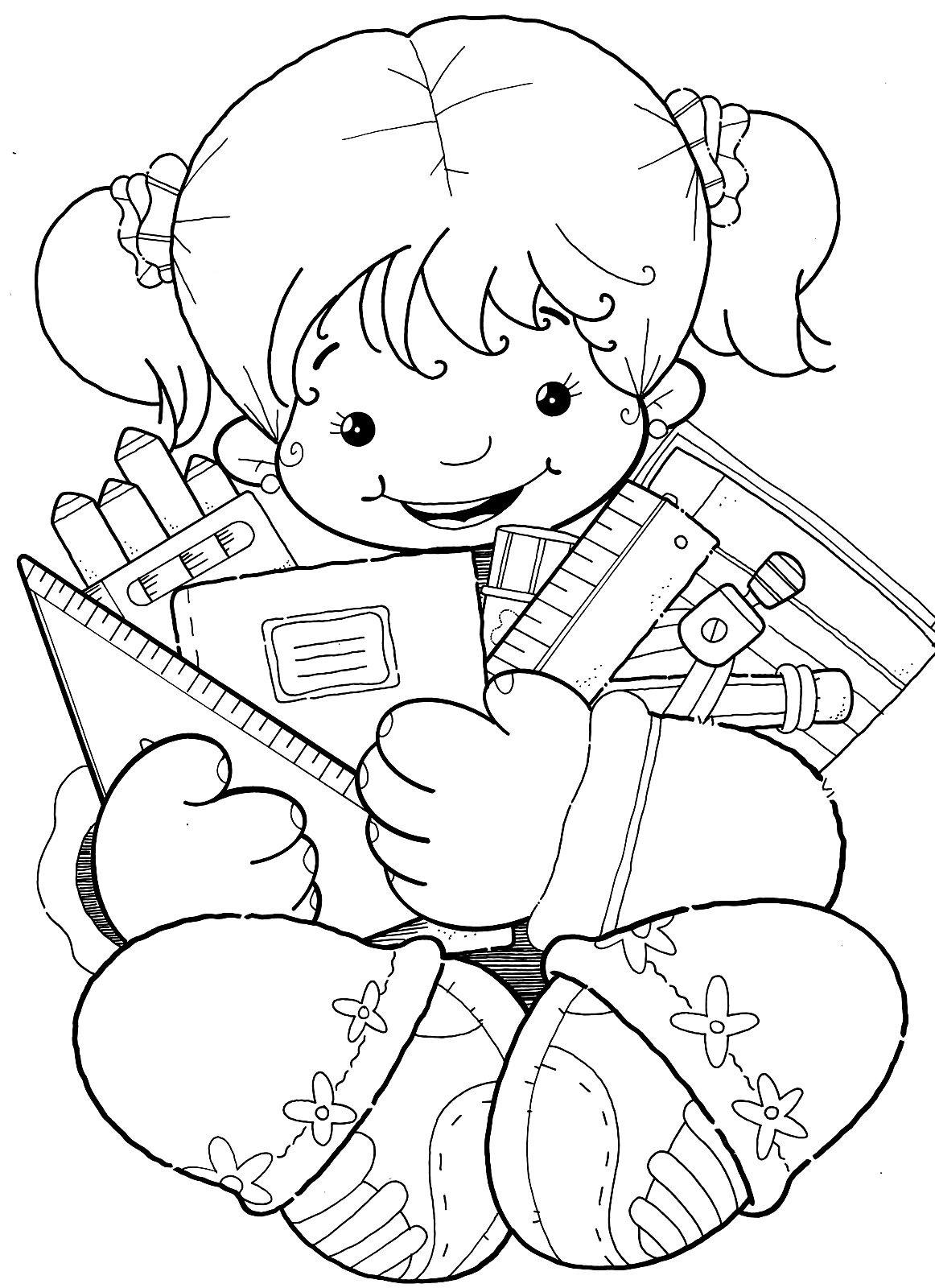 Desenhos De Meninas Bonitas Para Imprimir E Colorir