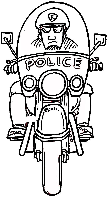 Desenhos De Motos De Polícia Para Colorir