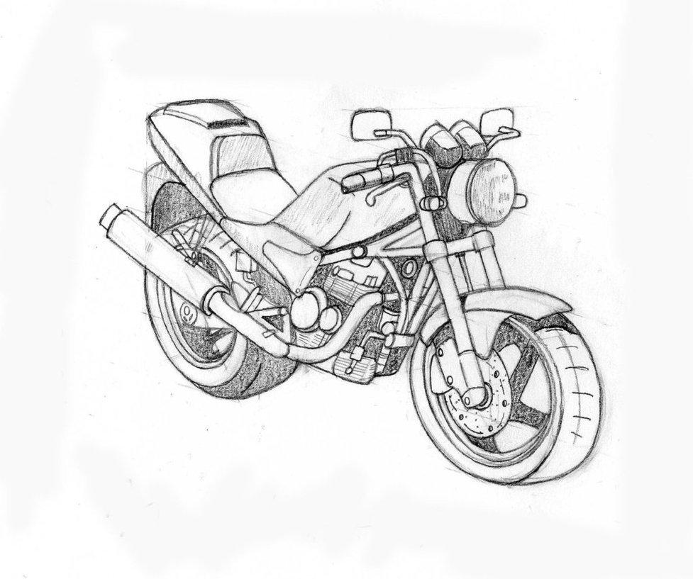 Desenhos De Motos Public Domain