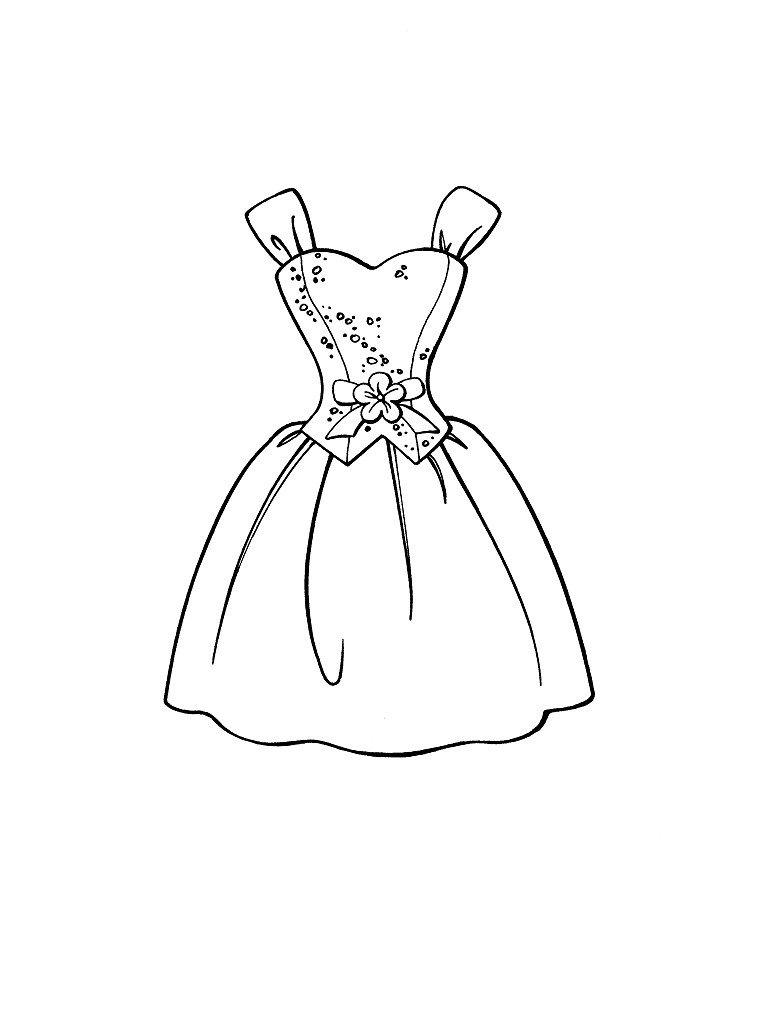 desenho de roupas para colorir