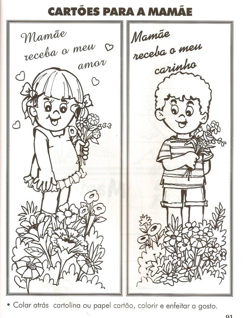 Desenhos Do Dia Das MÃes Para Imprimir E Colorir, Pintar