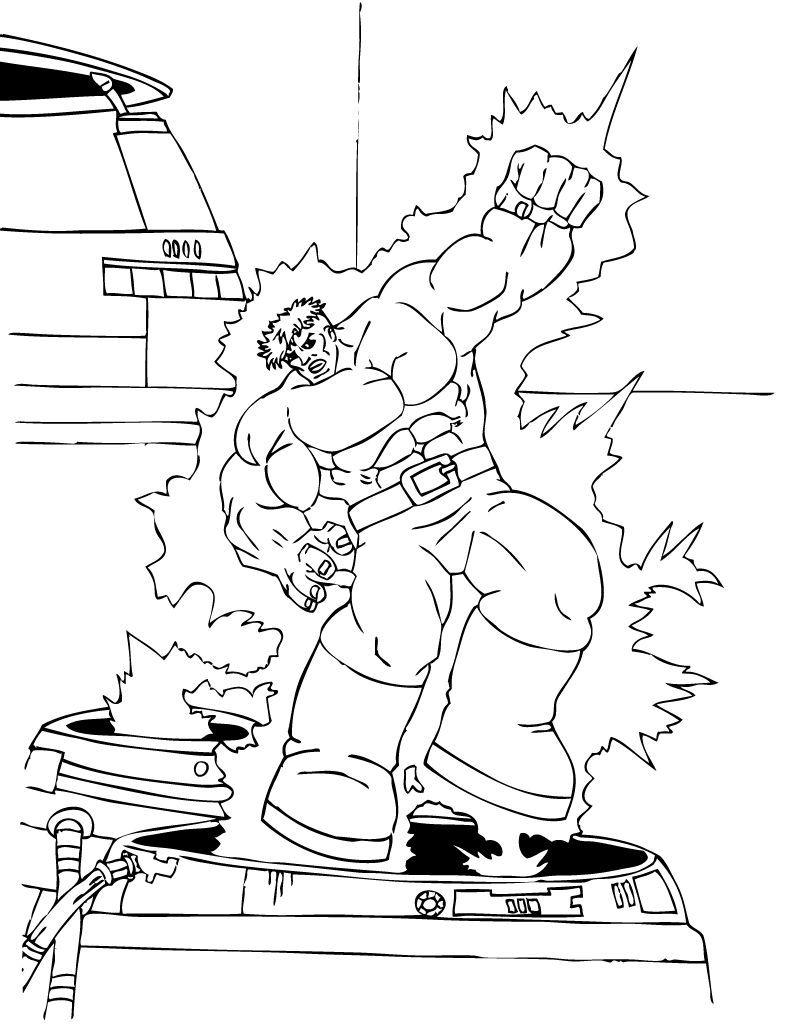 Desenhos Do IncrÍvel Hulk Para Colorir   60 Desenhos Para Colorir