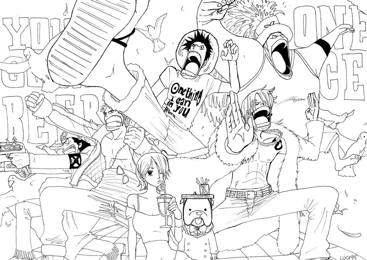 Desenhos Do One Piece Para Colorir