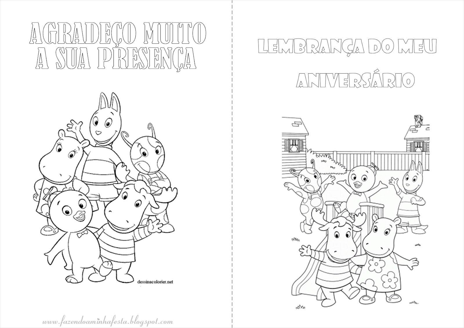 Desenhos Dos Backyardigans Para Colorir E Imprimir