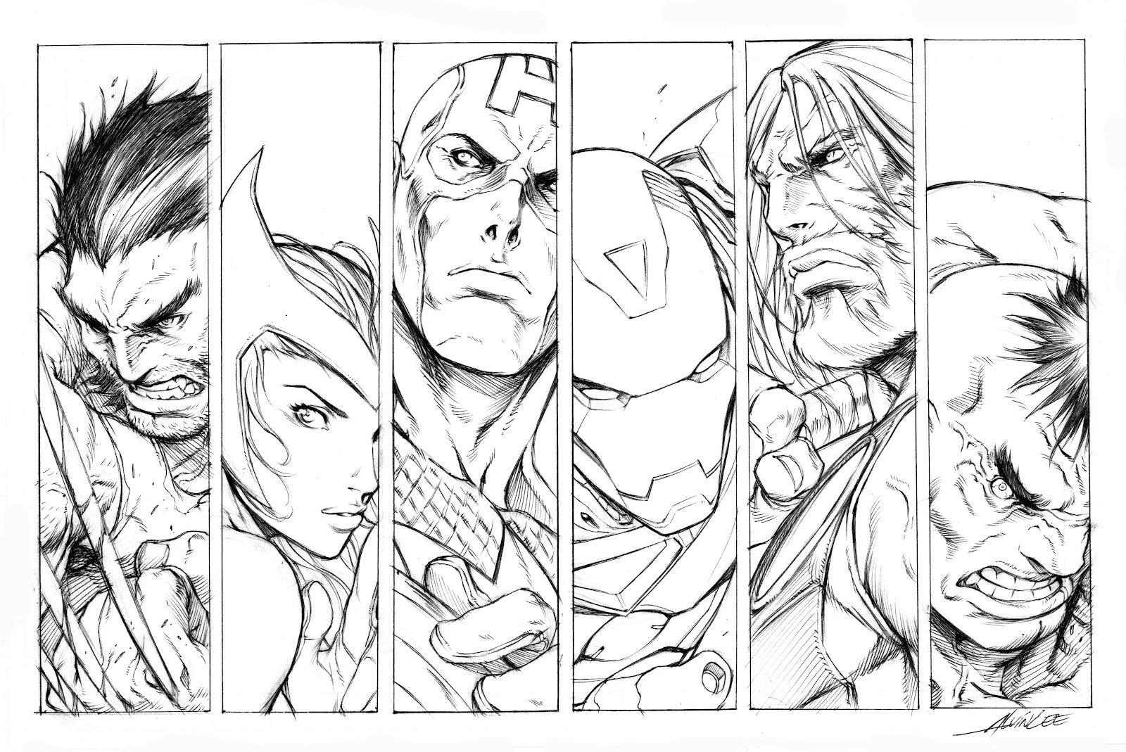Desenhos Dos Vingadores – Desenhos Para Colorir
