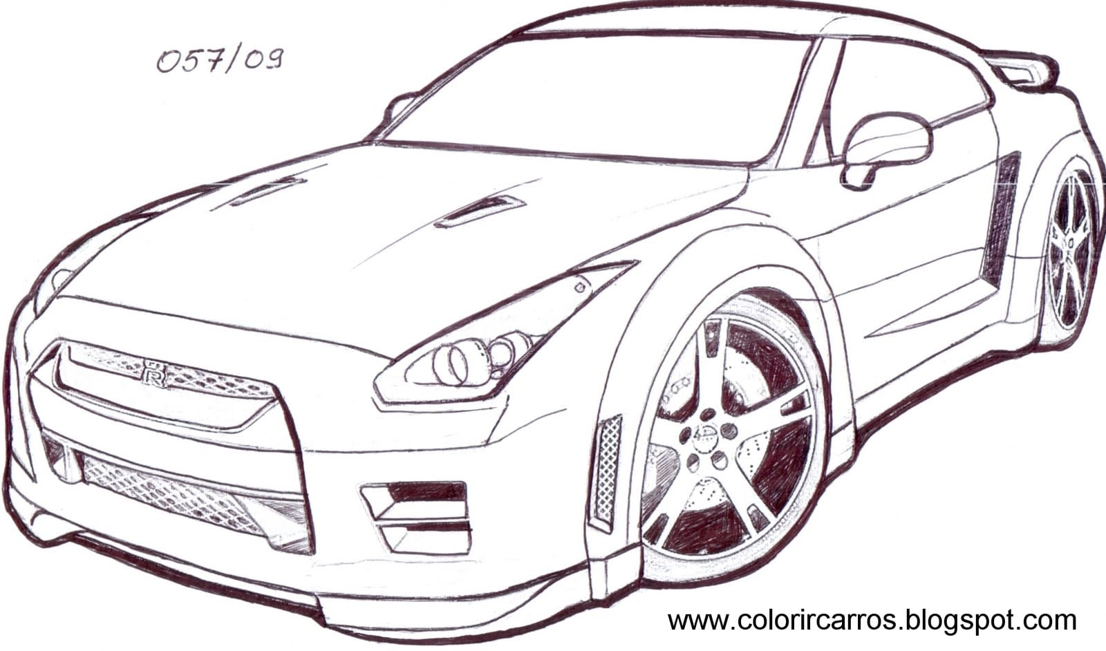 Desenho Para Colorir De Carros Disney: Desenhos De Carros Esportivos