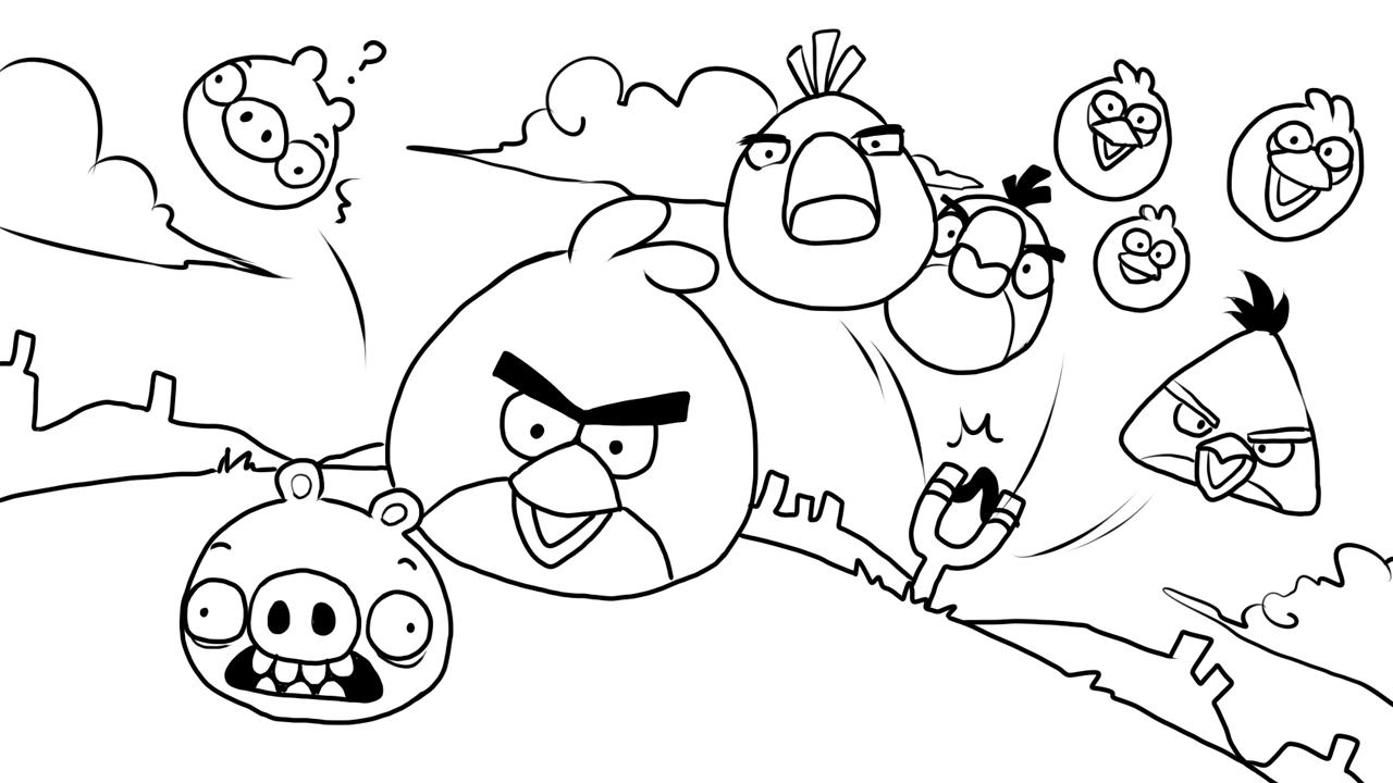 Desenhos Para Colorir Angry Birds