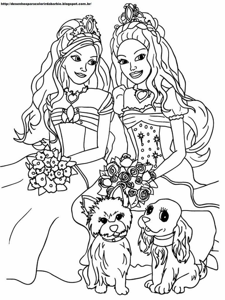 Desenhos Para Colorir Da Barbie Princesa (desenho 08)