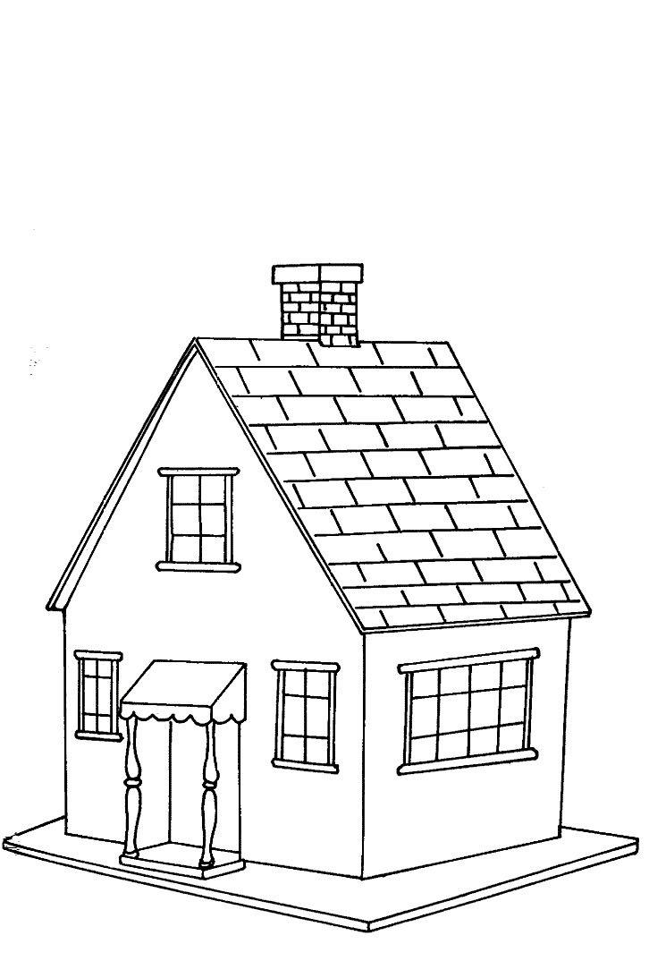 Desenhos Para Colorir De Casas  Lindos Modelos Para Imprimir E Pintar