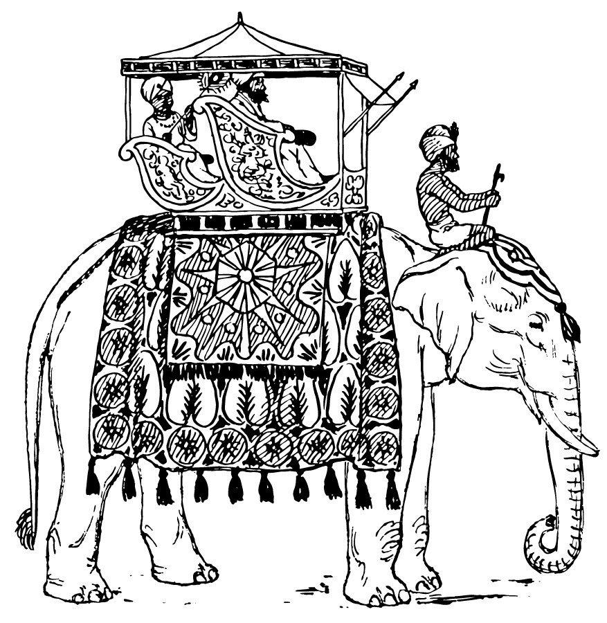 Desenhos Para Colorir De Elefantes  Desenhos Para Pintar De Elefantes