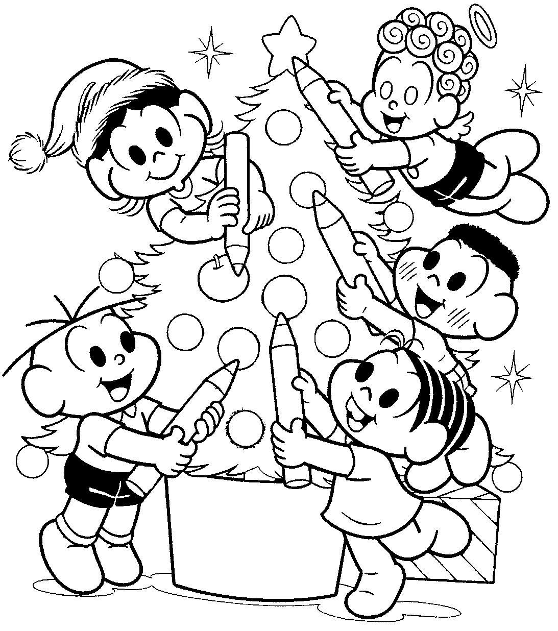 Desenhos Para Colorir De Natal Turma Da Monica No Jogos Online Wx