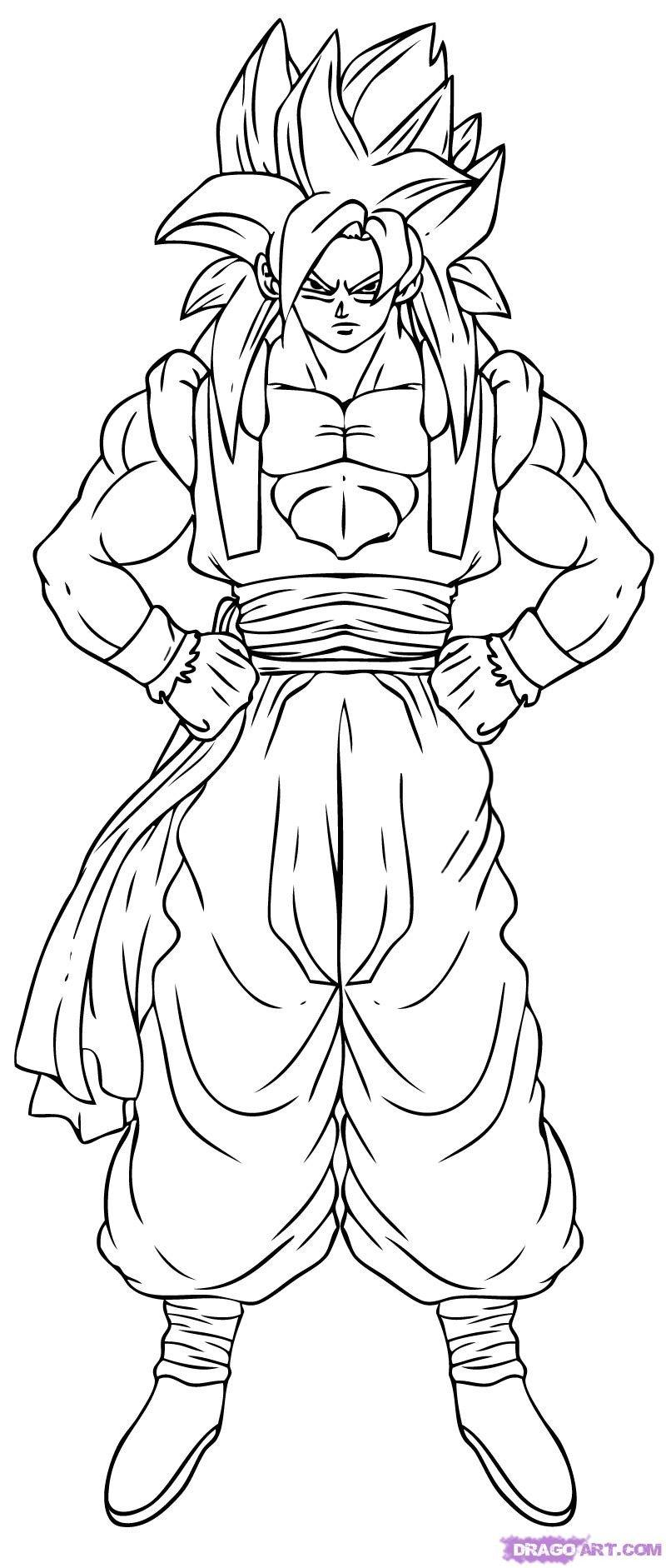 desenhos para colorir do dragon ball z free coloring pages