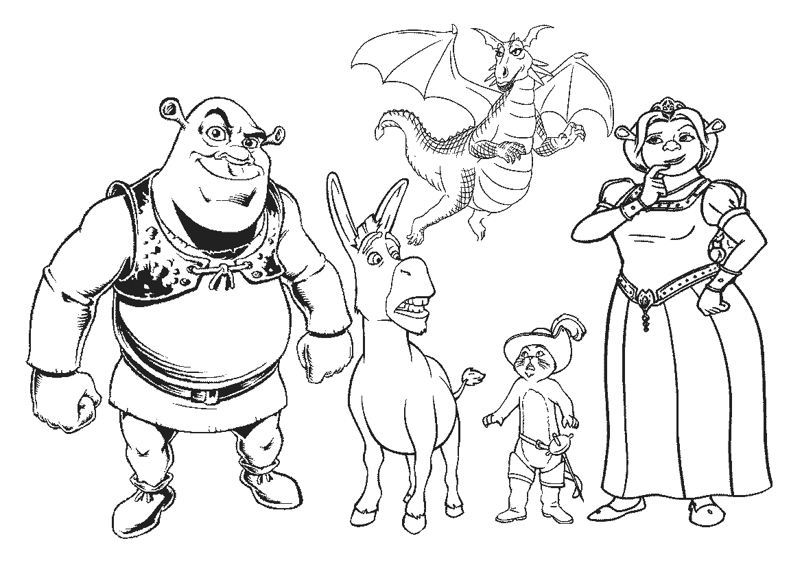Desenhos Para Colorir Do Shrek  Desenhoswiki Com