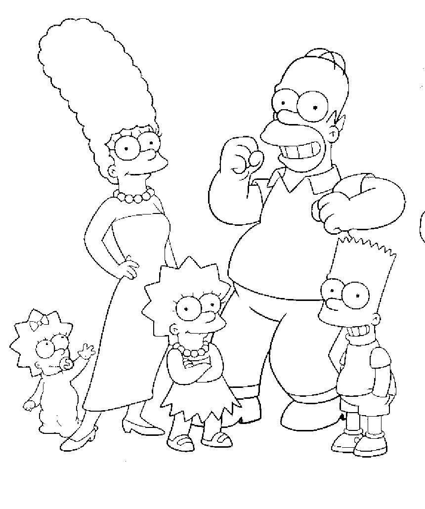 Desenhos Para Colorir Dos Simpsons Free Coloring Pages