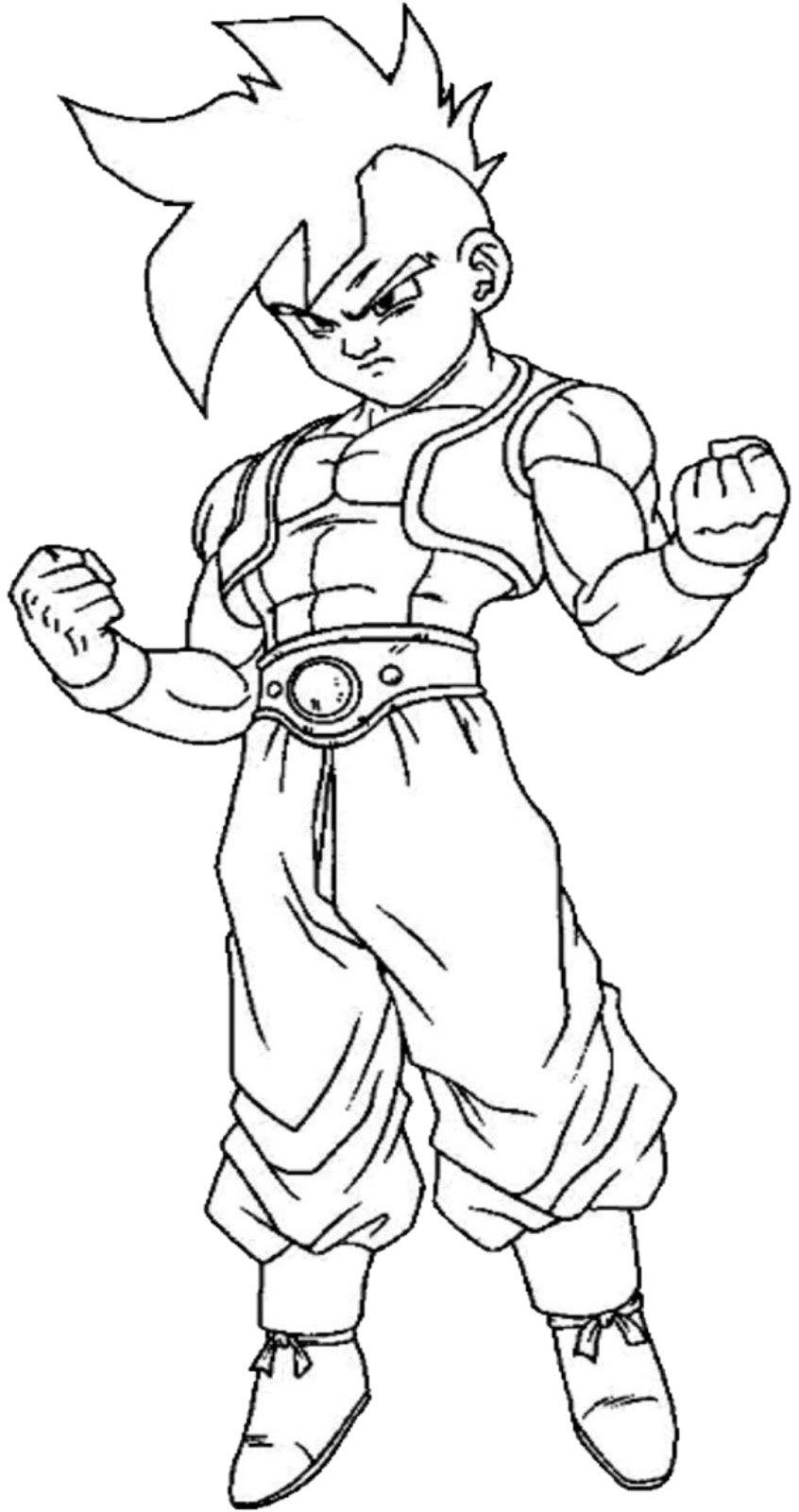 Desenhos Para Colorir Dragon Ball Z Sketch Coloring Page Free