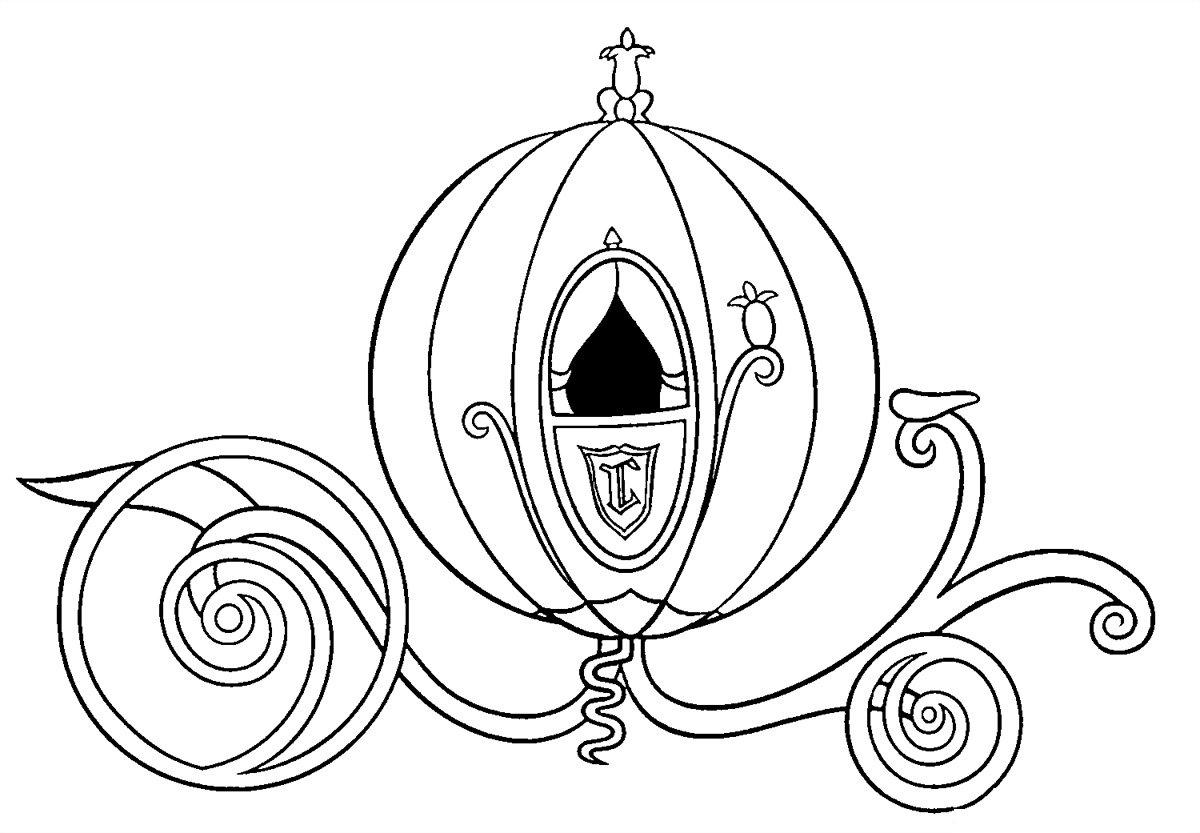 Desenhos Para Colorir E Imprimir  Desenhos Da Cinderela Para