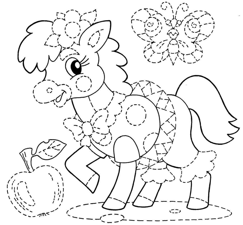 Desenhos Para Colorir E Pintar De Cavalo