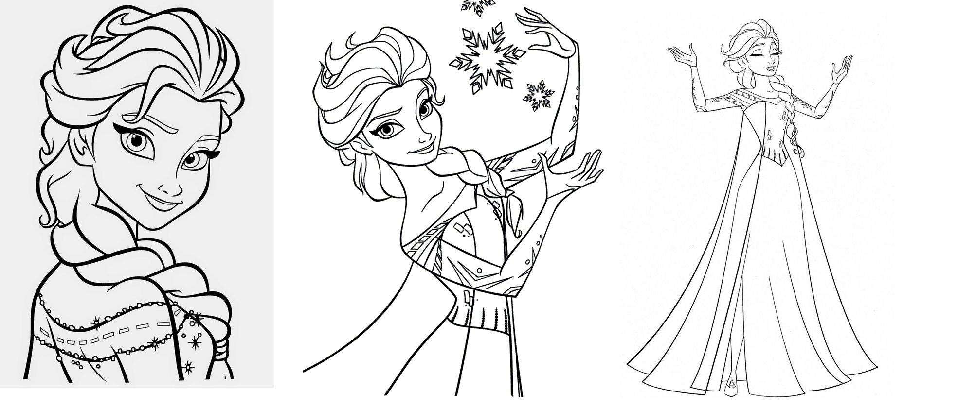 Desenhos Para Colorir Frozen Gratis
