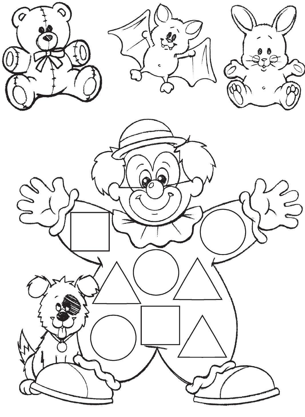 Desenhos Para Imprimir, Colorir E Pintar De Palhaços