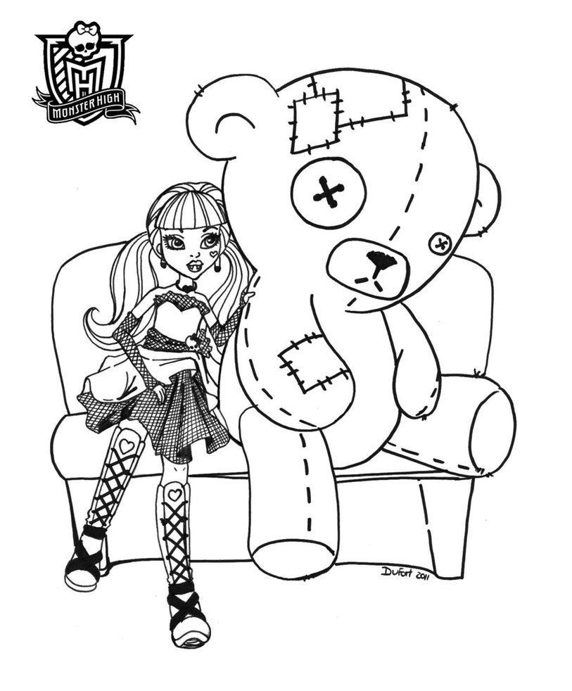 Desenhos Para Imprimir Da Monster High No Jogos Online Wx