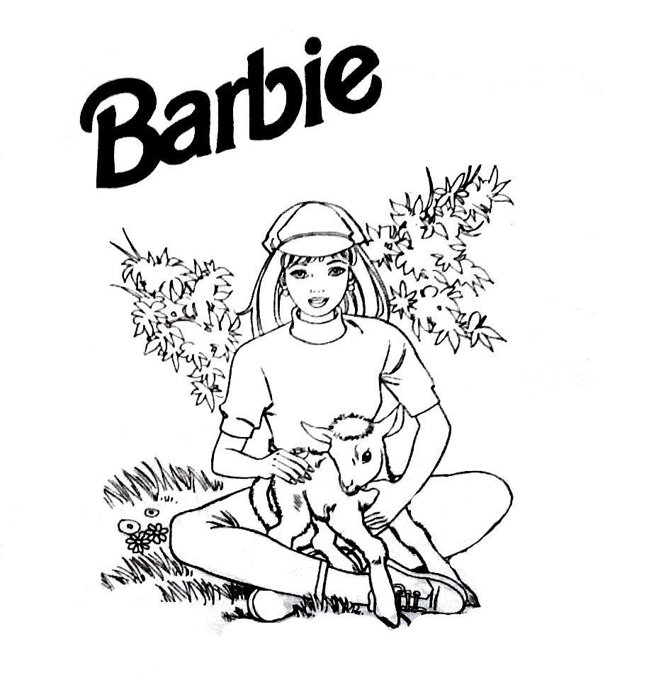 Desenhos Para Pintar Da Barbie  Desenhos Da Barbie