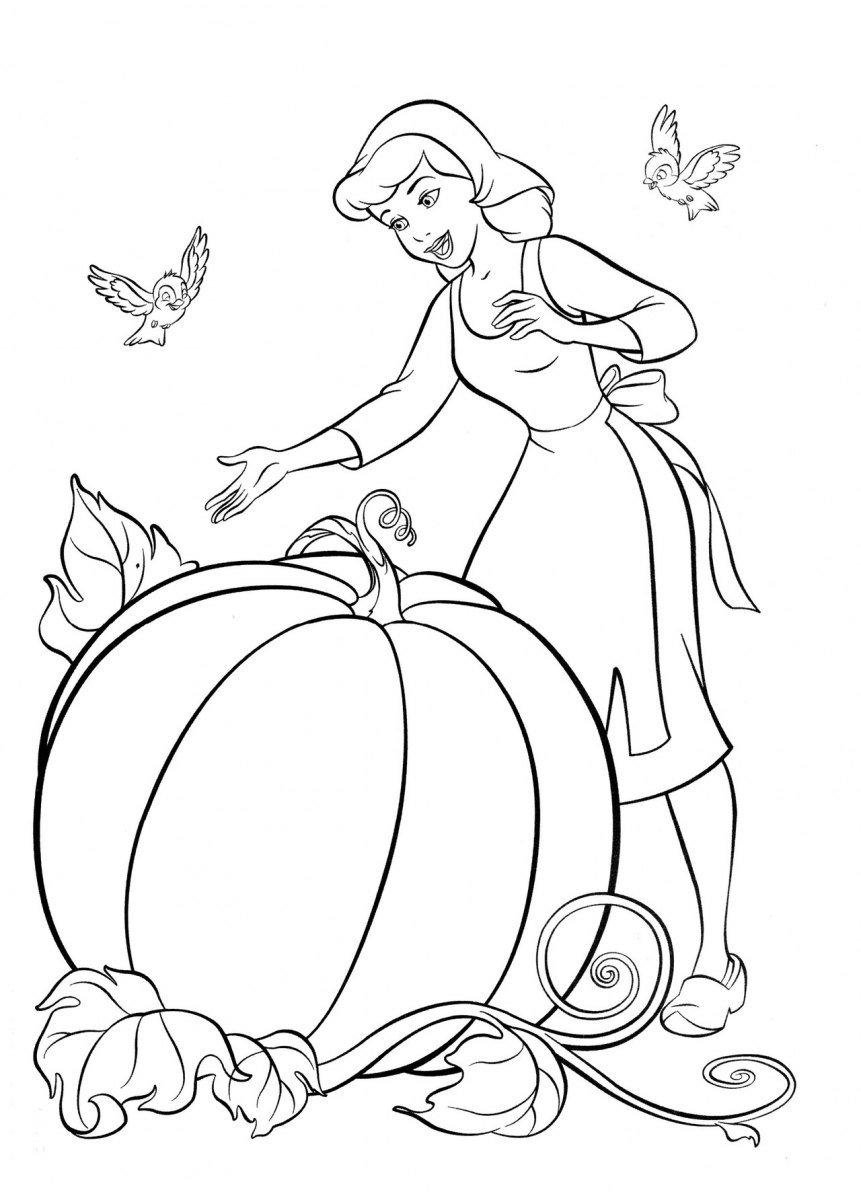 Desenhos Para Pintar Da Cinderela 1