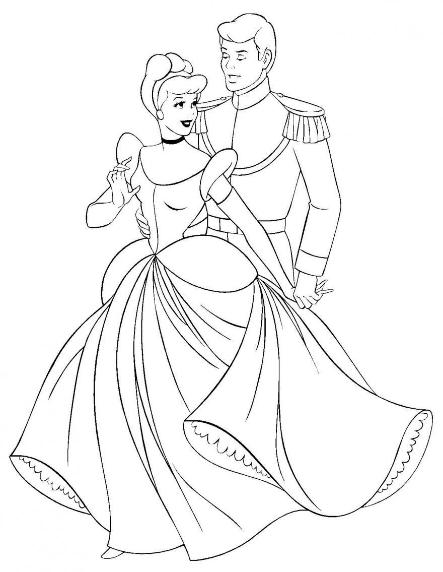 Desenhos Para Pintar Da Cinderela Colorir Sketch Coloring Page