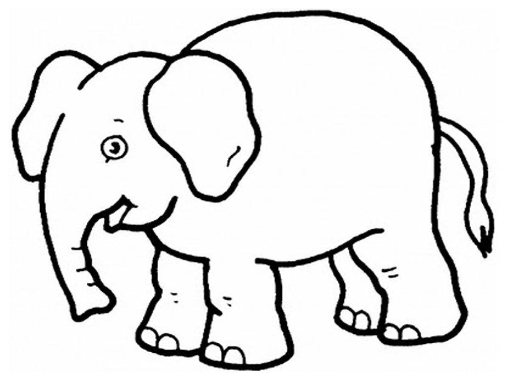 Desenhos Para Pintar: Desenho De Elefante Para Colorir
